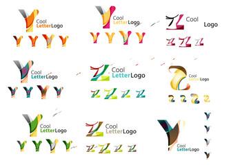 Letter business emblem collection