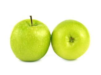 Wall Mural - Fresh apples green  isolated white background