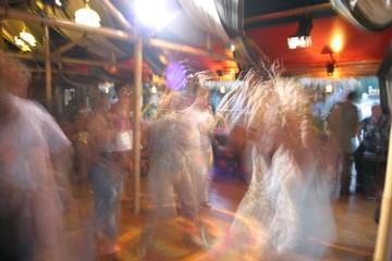Dancing in the night club