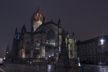 St Giles Cathedral at night
