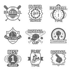 Baseball Emblems Set