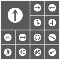 Set icon of road signs