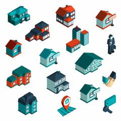 Real Estate Icon Isometric