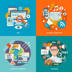 Seo Internet Marketing Flat