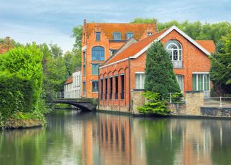 Bruges canals and bridges