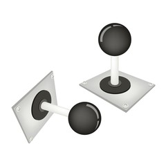 Joystick or Control Column on White Background