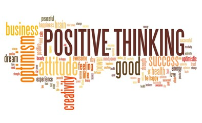 Positive thinking - word cloud