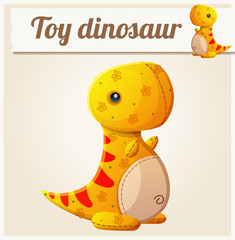 Toy dinosaur 6. Cartoon vector illustration. Series of children