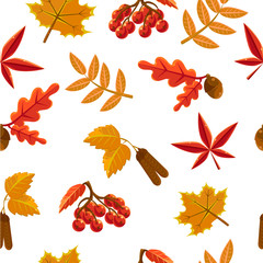 Seamless pattern with leaf, abstract leaf texture, endless