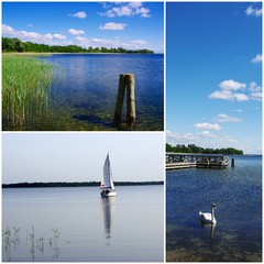 Masurian Lakeland, Poland - photo collage