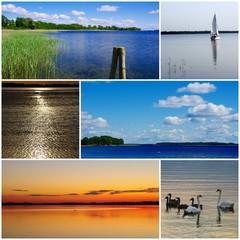 Masurian Lakeland, Poland - photo collage