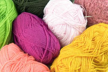 Color yarn balls