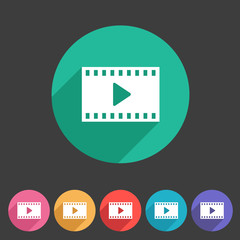 Film video cinema photo icon flat web sign symbol logo label