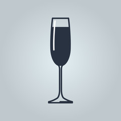 Linear icon of champagne