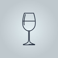 Linear icon of red wine