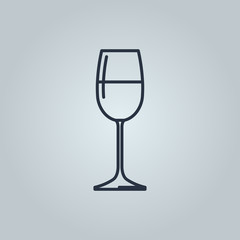 Linear icon of white wine