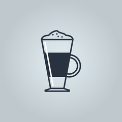 Linear icon of latte
