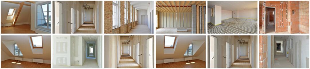 Obraz Innenausbau, umbau, renovierung - fototapety do salonu