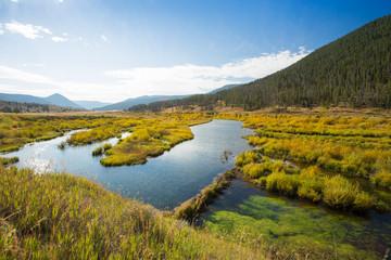Vast landscape showing fall colors.