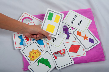 flash object cards in hand