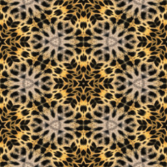 Abstract seamless background based on leopard fur