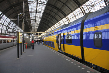 Railway station in Amsterdam. Netherlands