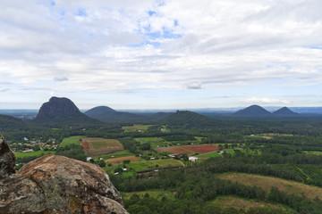 Glass House Mountains Range View