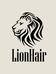 Lion Hair Logo, art vector design
