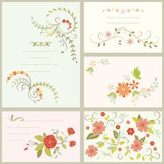 floral flower card