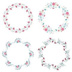 flower wreath, floral flower frames