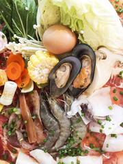 shabu and food illustration