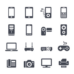 Technology and Devices Icon on White Background. Vector Illustration
