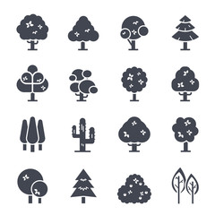 Tree Icon on White Background. Vector Illustration
