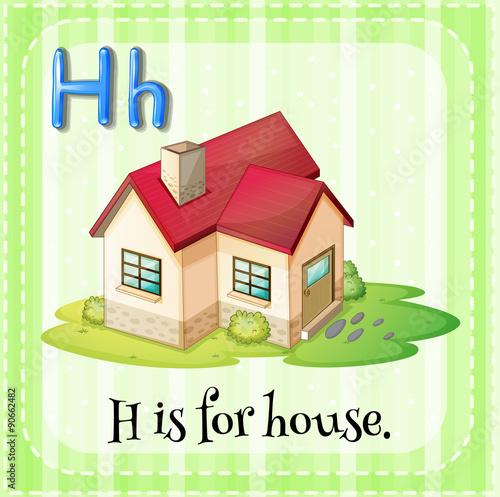 flashcard letter h is for house imagens e vetores de stock royalty free no. Black Bedroom Furniture Sets. Home Design Ideas