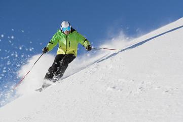 skiing free feeling Wall mural