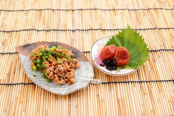 納豆と梅干し