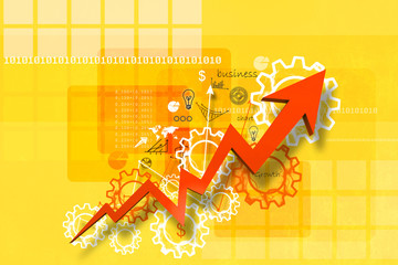 Economical stock market graph in abstract background