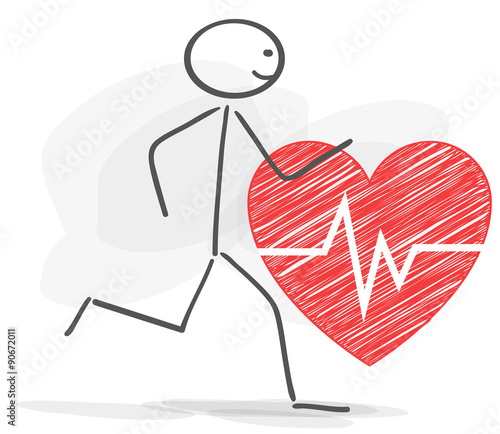 Stickman healthy heart red stock image and royalty free vector stickman healthy heart red ccuart Images