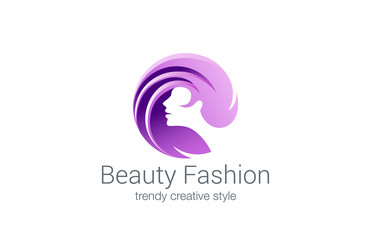 Beauty Fashion Spa Logo Circle Design Vector Haircut Salon
