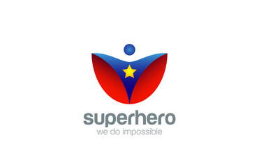 Super Hero Logo Abstract design vector. Superhero