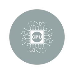 Circuit board  icon. Technology scheme square symbol
