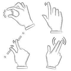 hand touching screen symbol