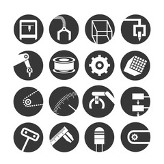 robot and automation icons