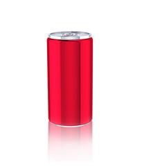 alluminium cans on white background