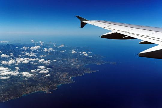 Vue aérienne de la côte ouest de Corse