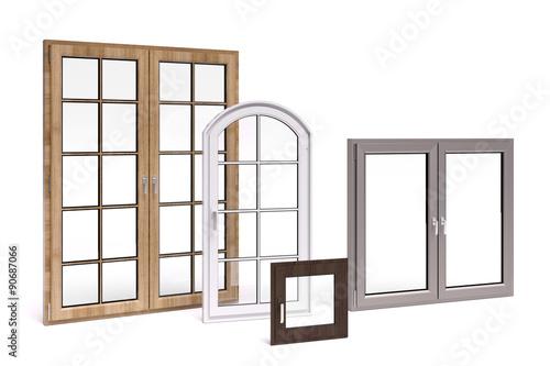 Fenster Holz Und Kunststoff ~ Fenster aus Holz und Kunststoff  zdjęć stockowych i obrazów