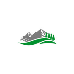 mountain hill travel nature vector logo
