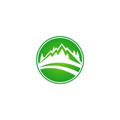 mountain hill nature icon vector logo