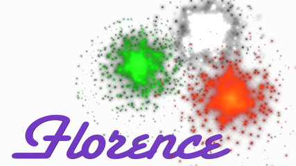 Fuochi d'artificio a Firenze