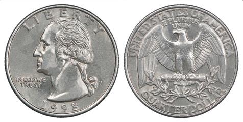 quarter dollar coin Fototapete